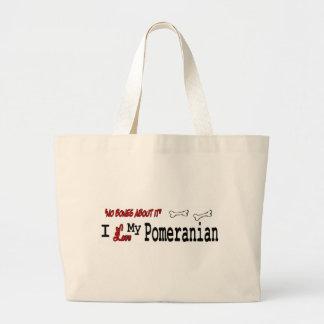 pomeranian Gifts Large Tote Bag