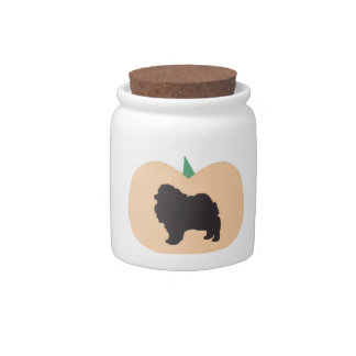 Pomeranian Halloween Candy Jar