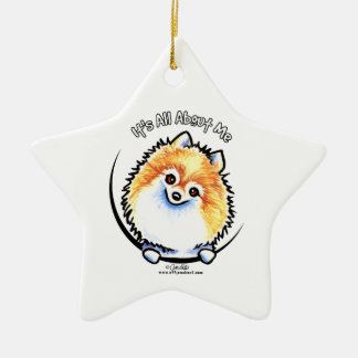 Pomeranian IAAM Ceramic Ornament