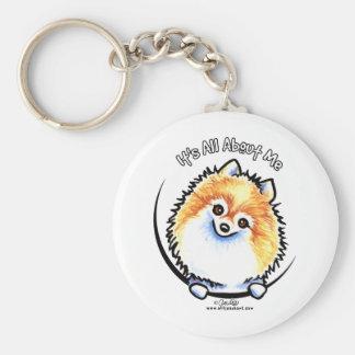 Pomeranian IAAM Keychain