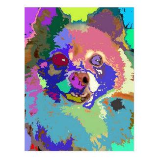 Pomeranian impresionista #1 postal