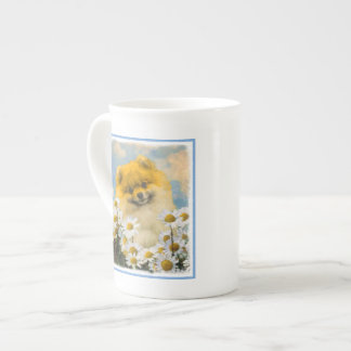 Pomeranian in Daisies Tea Cup