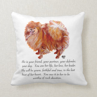 Pomeranian Keepsake Female Pillows