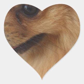 Pomeranian Lover Heart Sticker