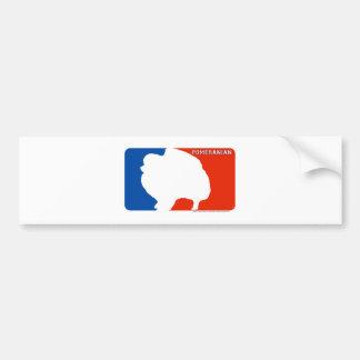 Pomeranian Major League Dog Bumper Sticker Car Bumper Sticker