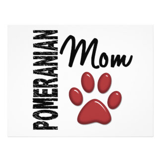 Pomeranian Mom 2 Flyer Design