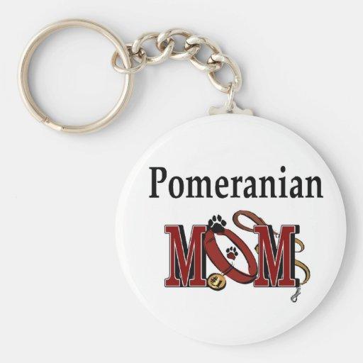 Pomeranian MOM Gifts Keychains