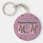 Pomeranian MOM Keychain