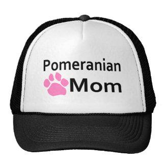 Pomeranian Mom Pink Paw Print Hats