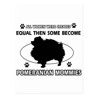 Pomeranian Mommy designs Postcard