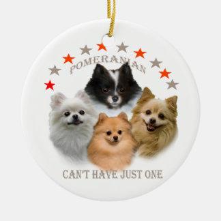 Pomeranian no puede tener apenas un ornamento adorno de navidad