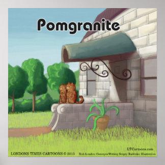 Pomeranian On Granite (PomGranite) Funny Poster