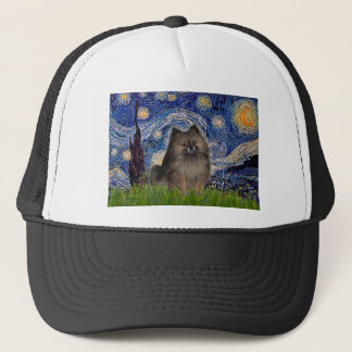 Pomeranian (parti3) - Starry Night Trucker Hat