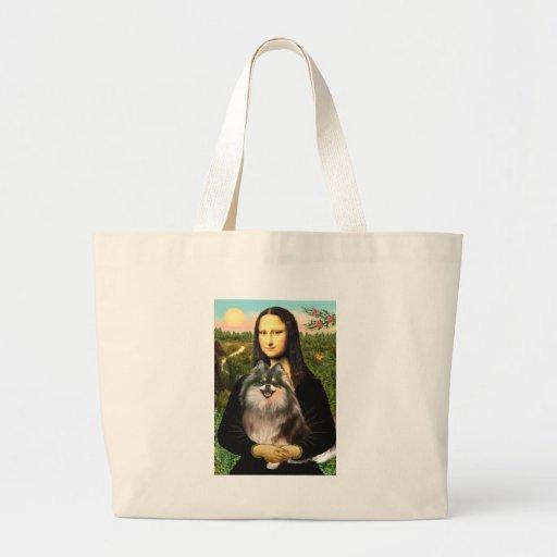 Pomeranian (parti) - Mona Lisa Bolsa Tela Grande