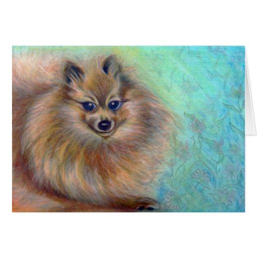 Pomeranian Pastel Card Art