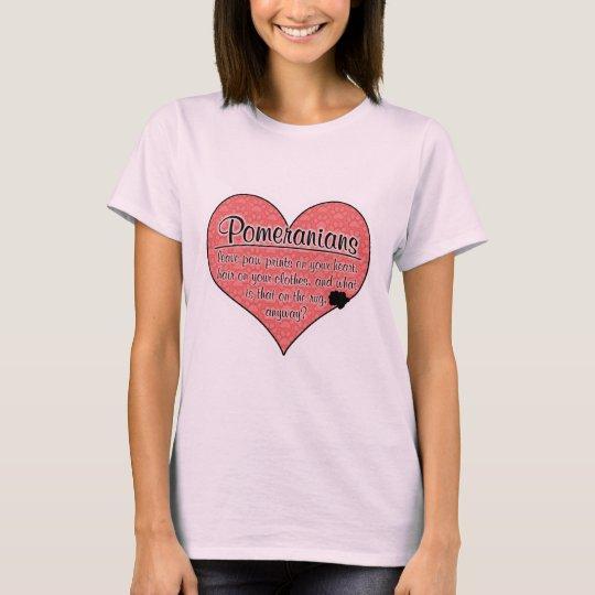 Pomeranian Paw Prints Dog Humor T-Shirt