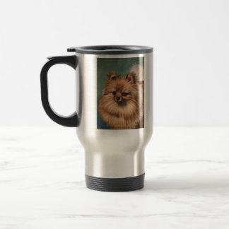Pomeranian - Peaches and Cream Travel Mug