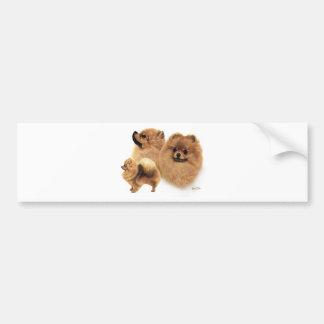 Pomeranian Pegatina Para Auto