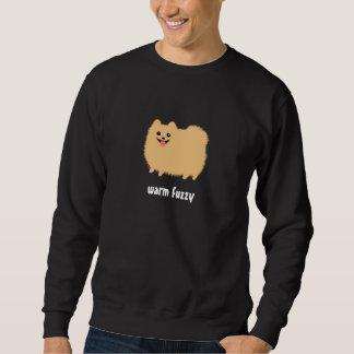 """Pomeranian perro lindo """"borroso"""" caliente con el sudadera"""