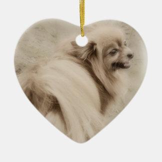 Pomeranian Photo - Dreamy Pom Christmas Ornament