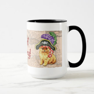Pomeranian Pirate Mug