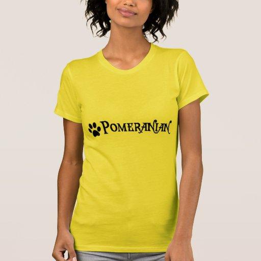 Pomeranian (pirate style w/ pawprint) t shirt
