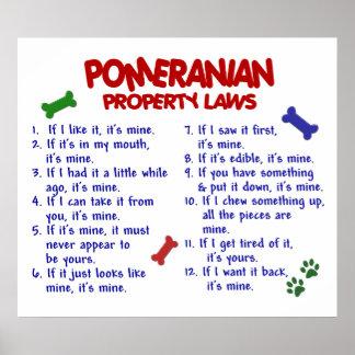 POMERANIAN PL2 POSTER