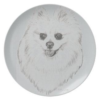 Pomeranian Plate by artist Carol Zeock