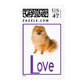 Pomeranian Pom Pom Puppy Dog  Love Postage Stamps