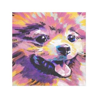 Pomeranian Pop Art Poster Print Stretched Canvas Print