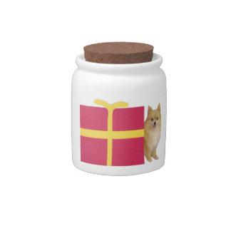 Pomeranian Present Candy Jar