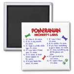 POMERANIAN Property Laws 2 2 Inch Square Magnet