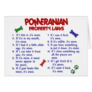 POMERANIAN Property Laws 2 Greeting Card
