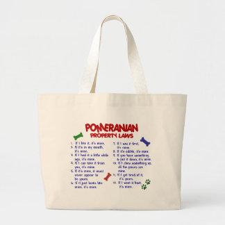 POMERANIAN Property Laws 2 Large Tote Bag