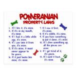 POMERANIAN Property Laws 2 Post Cards