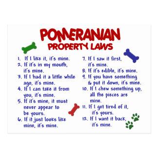 POMERANIAN Property Laws 2 Postcard