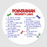 POMERANIAN Property Laws 2 Stickers