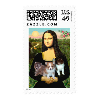 Pomeranian Puppies - Mona Lisa Stamps