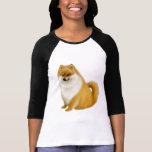 Pomeranian Puppy Raglan Jersey Tee Shirt