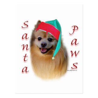 Pomeranian Santa Paws Postcard
