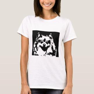 Pomeranian Shirt - Ladies Baby Doll T-Shirt