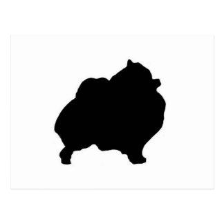 pomeranian silhouette postcard