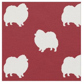 Pomeranian Silhouettes Pattern Fabric