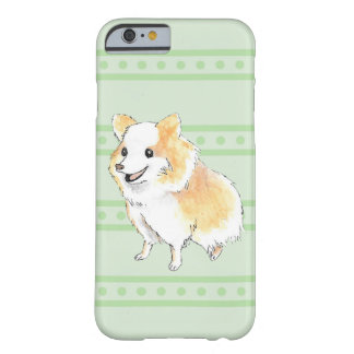 Pomeranian Sitting Watercolour in Green Barely There iPhone 6 Case