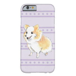 Pomeranian Sitting Watercolour in Purple Barely There iPhone 6 Case