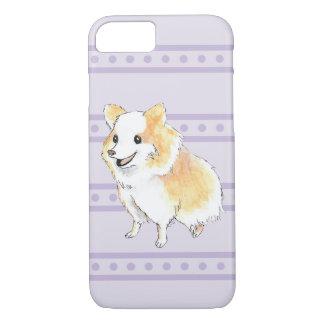 Pomeranian Sitting Watercolour in Purple iPhone 7 Case
