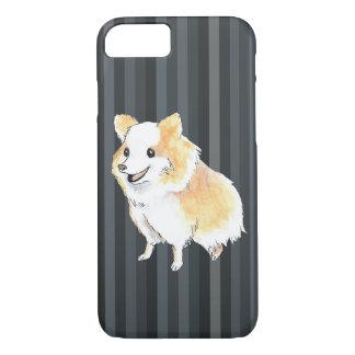 Pomeranian Sitting Watercolour iPhone 7 Case