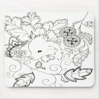 Pomeranian Sketch Mouse Pad