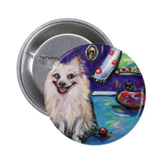 Pomeranian Smile Button
