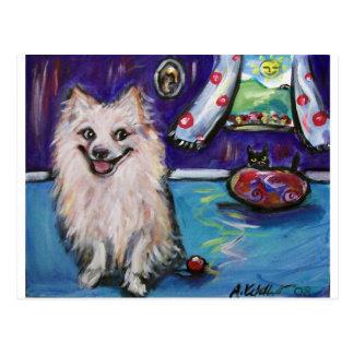 Pomeranian Smile Postcard